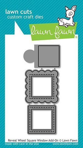 Lawn Fawn - Reveal Wheel Square Window Add-On, Stanssisetti