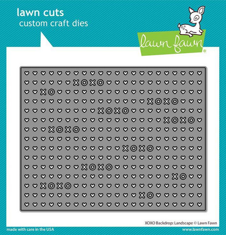 Lawn Fawn - XOXO Backdrop Landscape, Stanssi