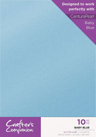 Crafter`s Companion - Glitterkartonki, Baby Blue, A4, 10 arkkia