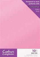 Crafter`s Companion - Glitterkartonki, Baby Pink, A4, 10 arkkia