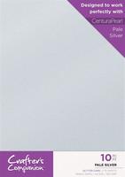 Crafter`s Companion - Glitterkartonki, Pale Silver, A4, 10 arkkia