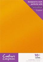 Crafter`s Companion - Glitterkartonki, Copper, A4, 10 arkkia