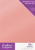 Crafter`s Companion - Glitterkartonki, Rose Gold, A4, 10 arkkia