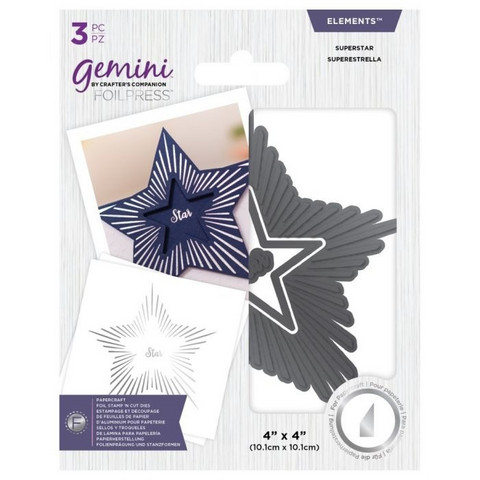Gemini - Foil Stamp 'N' Cut Elements, Superstar