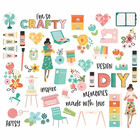Simple Stories - Hey Crafty Girl, Bits & Pieces Die-Cuts, 51 osaa