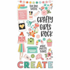 Simple Stories - Hey Crafty Girl, Chipboard Stickers 6