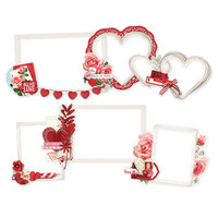 Simple Stories - My Valentine Layered Frames Die-Cuts, 6 kpl