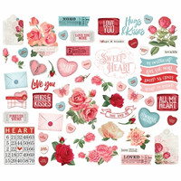 Simple Stories - My Valentine Bits & Pieces Die-Cuts, 60 osaa