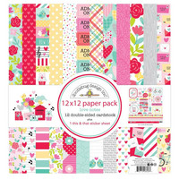 Doodlebug - Love Notes, Double-Sided Paper Pack 12