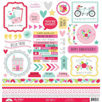 Doodlebug - Love Notes, This & That Cardstock Stickers, 12