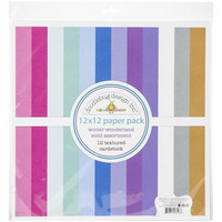 Doodlebug - Winter Wonderland, Textured Double-Sided Paper Pack 12