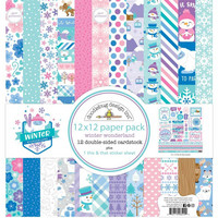 Doodlebug - Winter Wonderland, Double-Sided Paper Pack 12