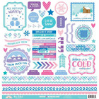 Doodlebug - Winter Wonderland, This & That Cardstock Stickers, 12