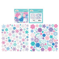 Doodlebug - Winter Wonderland, Chat Die-Cuts, Snowflakes, 145 osaa