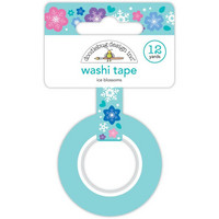 Doodlebug - Winter Wonderland, Washi Tape 15mmX11m, Ice Blossoms