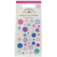 Doodlebug - Winter Wonderland, Sprinkles Adhesive Enamel Shapes, 36 osaa