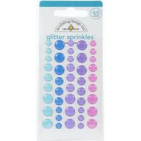 Doodlebug - Winter Wonderland, Sprinkles Adhesive Glitter Enamel Dots, 45 osaa
