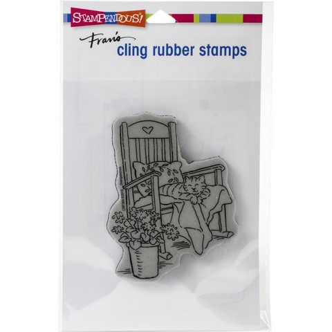 Stampendous - Cat In Rocker, Leima