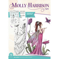 Molly Harrison - Photopolymer Stamp, Poppies of Amethyst, Leimasetti