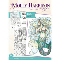Molly Harrison - Photopolymer Stamp, Sea of Bubbles, Leimasetti