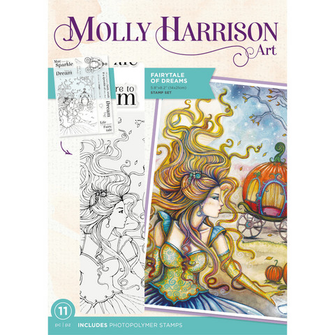 Molly Harrison - Photopolymer Stamp, Fairytale of Dreams, Leimasetti