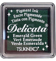 Tsukineko - Delicata Pigment Ink, Emerald Green, Leimasinmuste