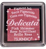 Tsukineko - Delicata Pigment Ink, Pink Shimmer, Leimasinmuste