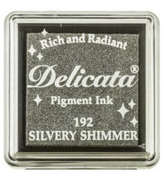 Tsukineko - Delicata Pigment Ink, Silvery Shimmer, Leimasinmuste