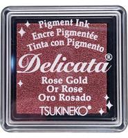Tsukineko - Delicata Pigment Ink, Rose Gold, Leimasinmuste