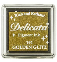 Tsukineko - Delicata Pigment Ink, Golden Glitz, Leimasinmuste