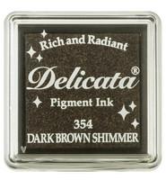 Tsukineko - Delicata Pigment Ink, Dark Brown Shimmer, Leimasinmuste