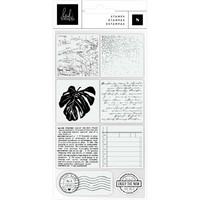 Heidi Swapp - Art Walk Clear Stamps, Words & Icons, Leimasetti