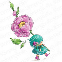 Stamping Bella - Bundle Girl With A Rose, Leima