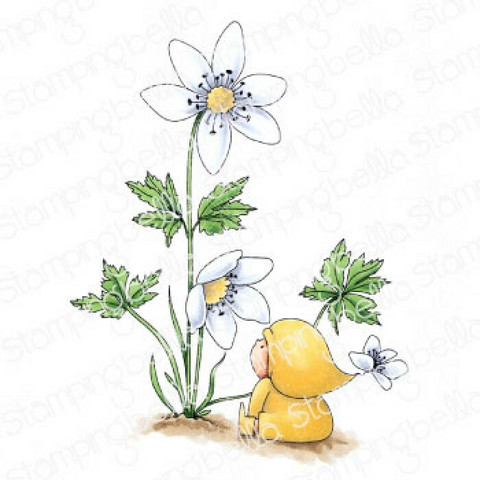 Stamping Bella - Bundle Girl With A Wood Anemone, Leima
