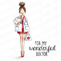 Stamping Bella - Curvy Girl Doctor, Leimasetti