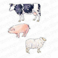 Stamping Bella - Edgar And Molly's Vintage Farm Animals, Leimasetti