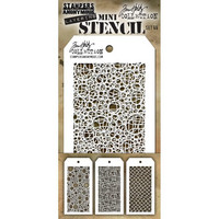Tim Holtz - Mini Layered Stencil, Set #46