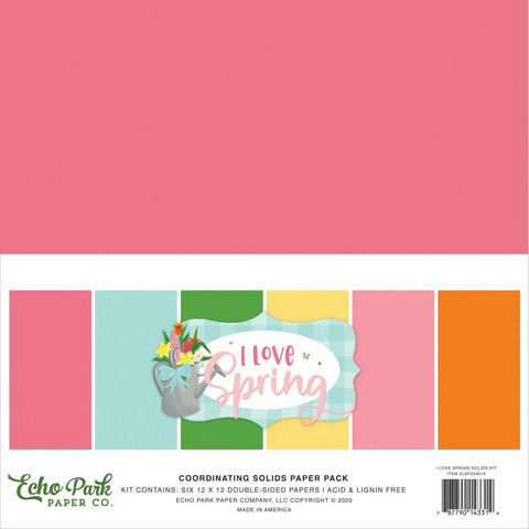 Echo Park - I Love Spring Solids Kit, 12