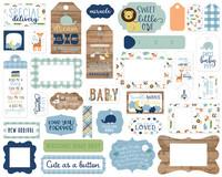 Echo Park - Baby Boy Frames & Tags, Leikekuvia, 33 kpl