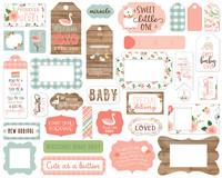 Echo Park - Baby Girl Frames & Tags, Leikekuvia, 33 kpl
