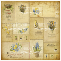 Fabrika Decoru - Vintage postcards, Vellum, 11,5