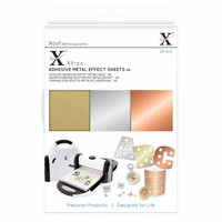 Xcut - Adhesive Metallic Effect Sheets, A5, 20 arkkia