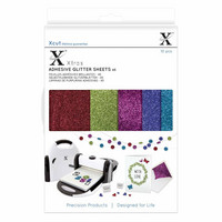 Xcut - Adhesive Glitter Effect Sheets, Darks, A5, 20 arkkia