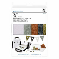 Xcut - Adhesive Glitter Effect Sheets, Metallics, A5, 20 arkkia