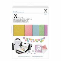 Xcut - Adhesive Glitter Effect Sheets, Pastels, A5, 20 arkkia