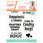 Crafter`s Companion - Sara Signature Collection Crafty Fun, Leimasetti, Happiness is Handmade
