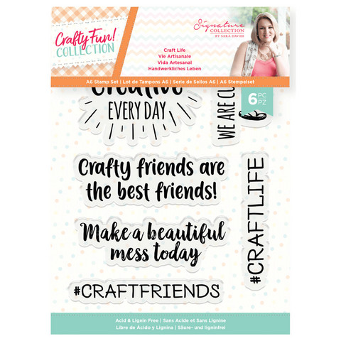 Crafter`s Companion - Sara Signature Collection Crafty Fun, Leimasetti, Craft Life