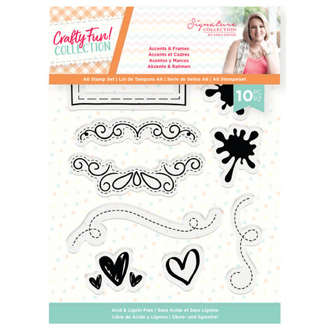 Crafter`s Companion - Sara Signature Collection Crafty Fun, Leimasetti, Accents & Frames