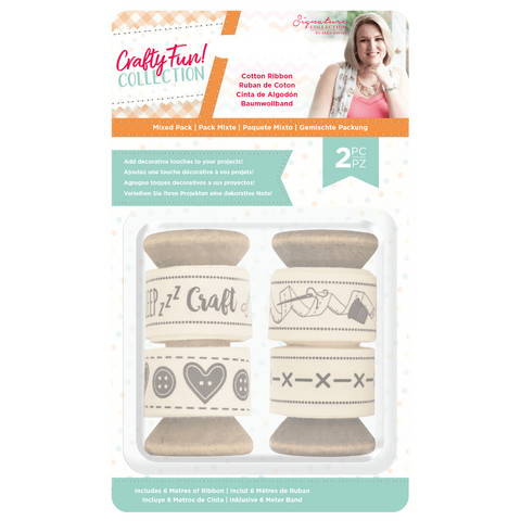 Crafter`s Companion - Sara Signature Collection Crafty Fun, Cotton Ribbon Pack