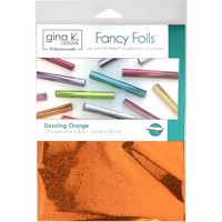 Deco Foil - Gina K Designs, Dazzling Orange Holographic (T), 12 arkkia